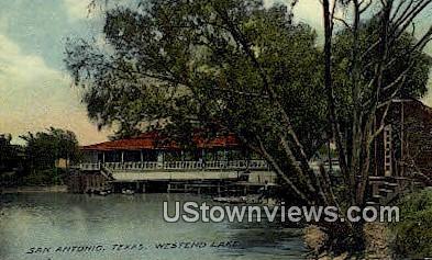 Westend Lake - San Antonio, Texas TX Postcard