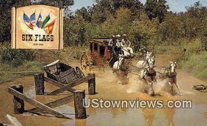 Bridge Out, Six Flags - Misc, Texas TX Postcard