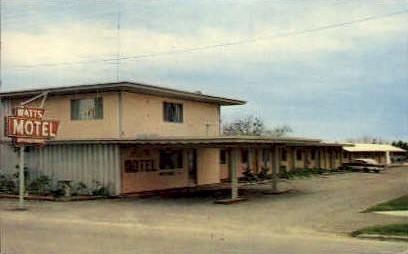 Watts Motel - Refugio, Texas TX Postcard