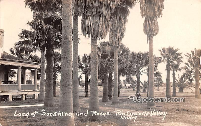 land of Sunshine and Roses - Rio Grande Valley, Texas TX Postcard