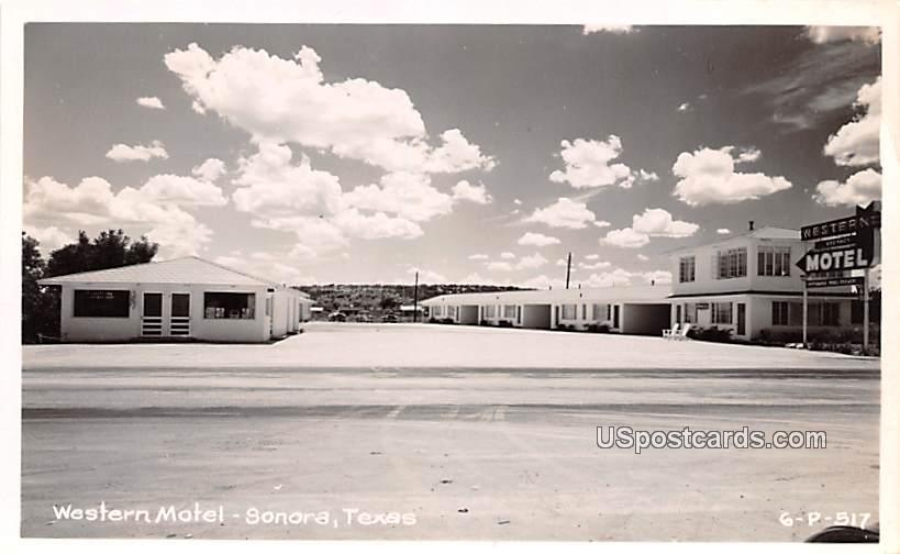 Western Motel - Sonora, Texas TX Postcard
