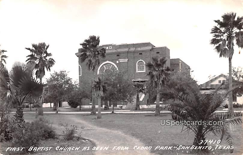 First Baptist Church - San Benito, Texas TX Postcard