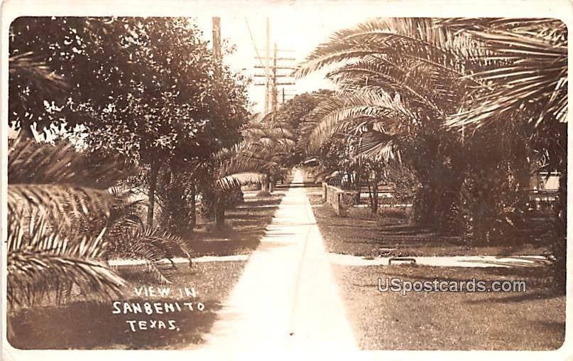 Walkway View - San Benito, Texas TX Postcard