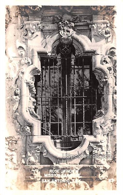 Rose Window - San Antonio, Texas TX Postcard