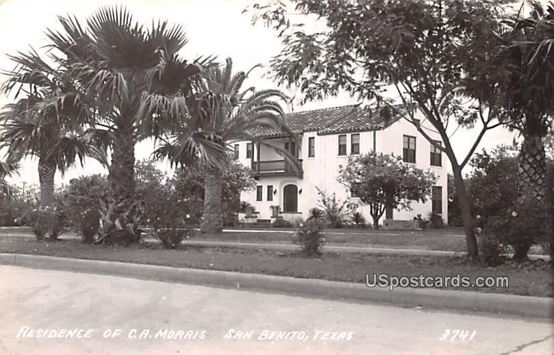 Residence of CA Morris - San Benito, Texas TX Postcard