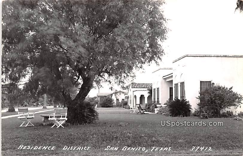 Residence District - San Benito, Texas TX Postcard
