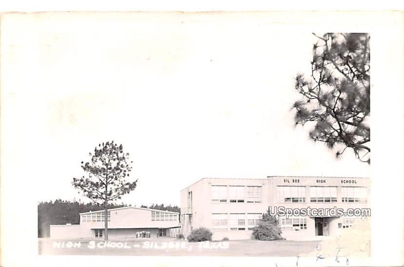 High School - Silsbee, Texas TX Postcard