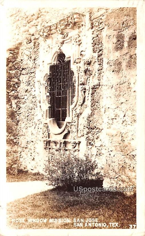 Rose Window Mission San Jose - San Antonio, Texas TX Postcard