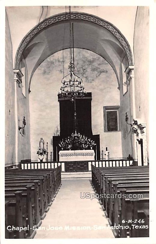 Chapel - San Antonio, Texas TX Postcard