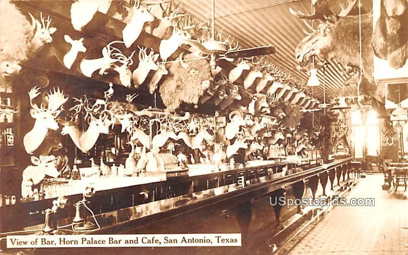 View of Bar - San Antonio, Texas TX Postcard