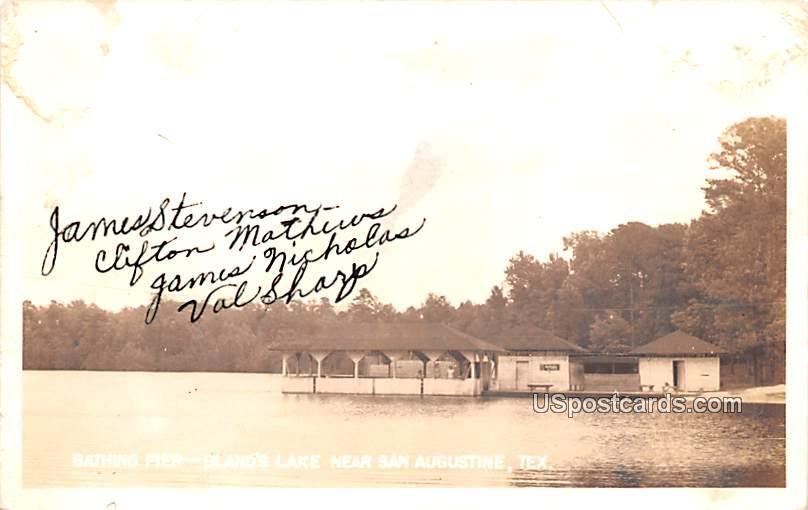Bathing Pier - San Augustine, Texas TX Postcard