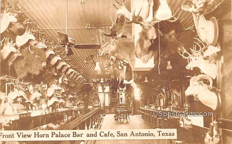 Front View Horn Pace Bar and Caf» - San Antonio, Texas TX Postcard