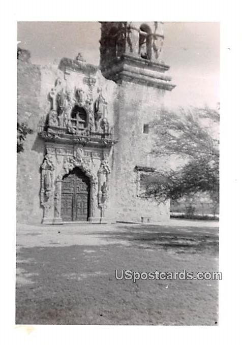 Old Doorway - San Antonio, Texas TX Postcard