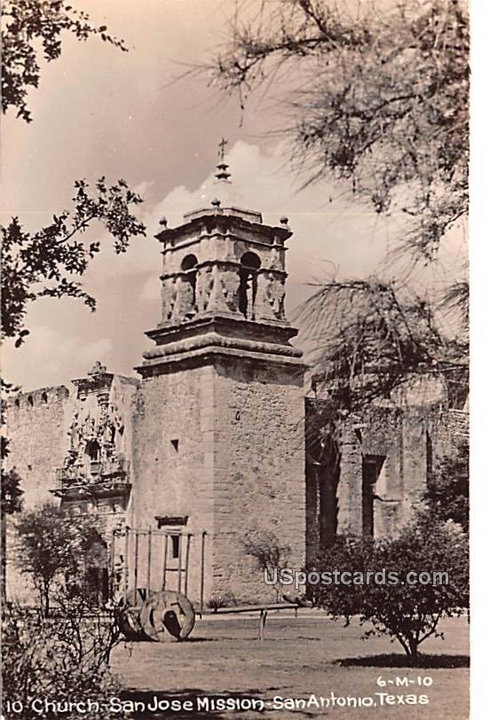 Church San Jose Mission - San Antonio, Texas TX Postcard