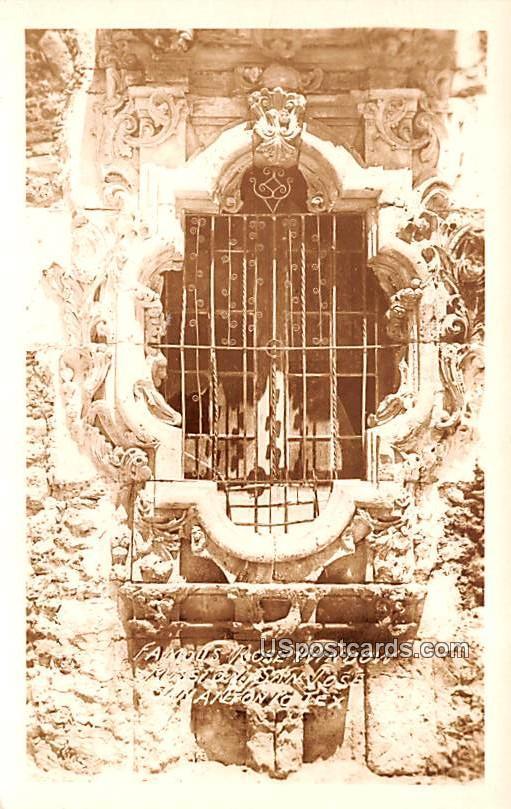 Famous Rose Window - San Antonio, Texas TX Postcard