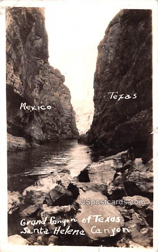 Grand Canyon of Texas - Santa Helena Canyon Postcard