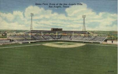 Guinn Field - San Angelo, Texas TX Postcard