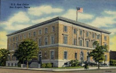 United States Post Office  - San Angelo, Texas TX Postcard