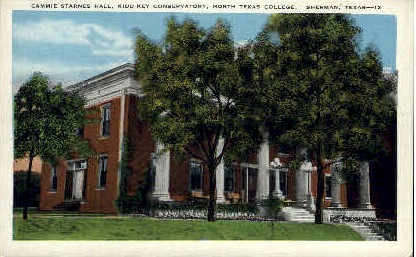 Cammie Starnes Hall - Sherman, Texas TX Postcard