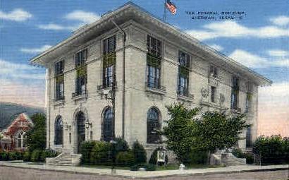 The Federal  Building - Sherman, Texas TX Postcard