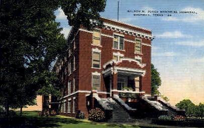 Wilson N Jones Memorial Hospital - Sherman, Texas TX Postcard