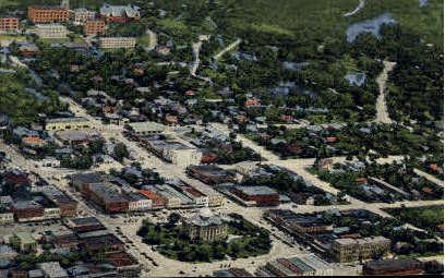 Aerial View - San Marcos, Texas TX Postcard