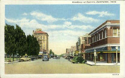 Broadway Of America Highway - Sweetwater, Texas TX Postcard