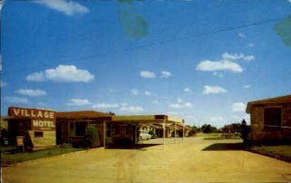 Villiage Motel - Shamrock, Texas TX Postcard