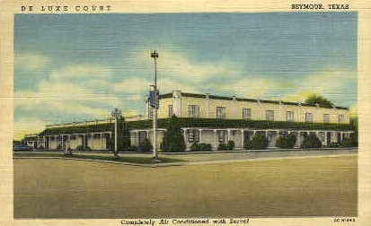 De Luxe Court  - Seymour, Texas TX Postcard