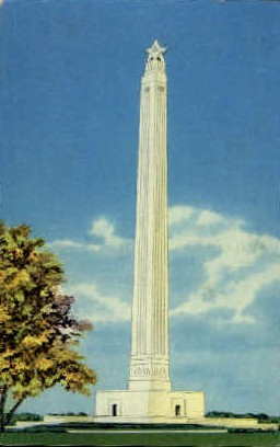 San Jacinto Monument - Texas TX Postcard