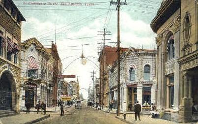 West Commerce Street - San Antonio, Texas TX Postcard