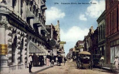 Commerce Street - San Antonio, Texas TX Postcard