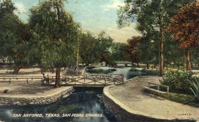 San Pedro Springs - San Antonio, Texas TX Postcard