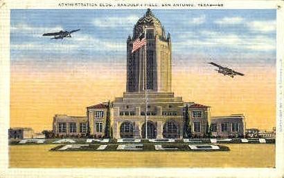 Randolph Field - San Antonio, Texas TX Postcard