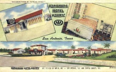 Koronado Hotel - San Antonio, Texas TX Postcard