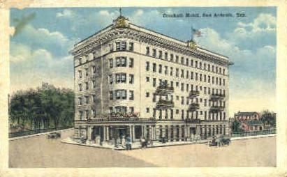 Crocket Hotel - San Antonio, Texas TX Postcard