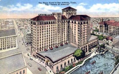 Plaza Hotel - San Antonio, Texas TX Postcard