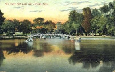 San Pedro Park Lake - San Antonio, Texas TX Postcard