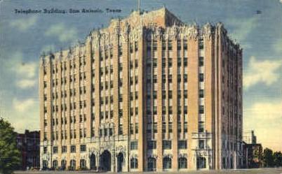 Telephone Building - San Antonio, Texas TX Postcard