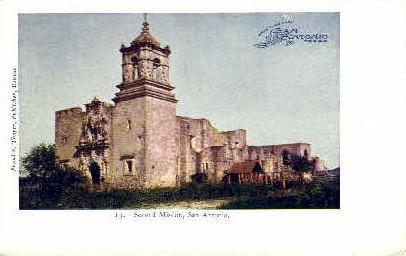 Second Mission - San Antonio, Texas TX Postcard