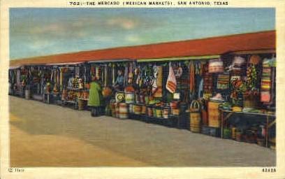 The Mercado - San Antonio, Texas TX Postcard
