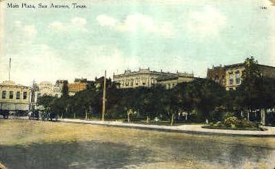 Main Plaza - San Antonio, Texas TX Postcard