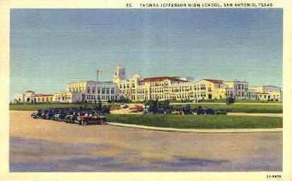 Thomas Jefferson High School - San Antonio, Texas TX Postcard