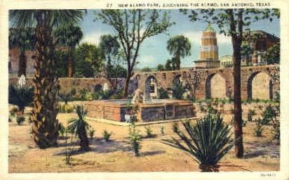 New Alamo Park - San Antonio, Texas TX Postcard