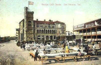 Mexican Chili Stands - San Antonio, Texas TX Postcard