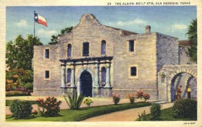 The Alamo - San Antonio, Texas TX Postcard