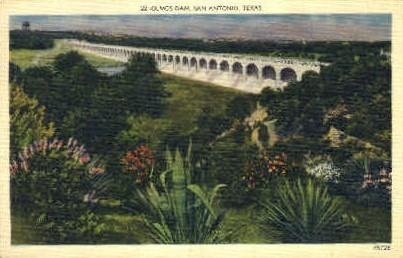 Olmos Dam - San Antonio, Texas TX Postcard