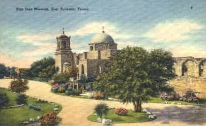 San Jose Mission - San Antonio, Texas TX Postcard
