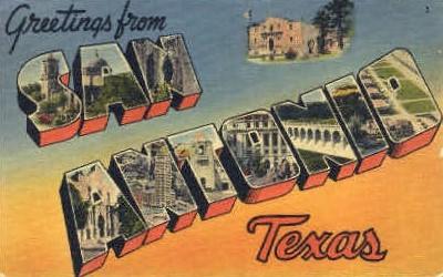 Oldest City in Texas - San Antonio Postcard