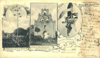 Mission San Francisco - San Antonio, Texas TX Postcard